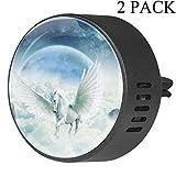 Pegasus Wings 2 Stücke Kristallglas Auto Diffusor Vent Clip mit Schwarzem Kunststoff Basis Aromatherapie Luftreiniger Auto Diffusor Medaillons Geschenk für Frau Mann Vater Meeresbrise