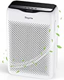 Luftreiniger, Bagotte Luftreiniger mit H13 HEPA Aktivkohlefilter, Luftfilter mit 99,97 % Filterleistung, 3 Lüfterstufen Leiser Schlafmodus Timer, gegen Rauch Staub Gerüche Pollen Allergene