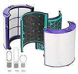 Ersatzfilter für Dyson TP04 Pure Cool Link Luftreiniger Dyson DP04 HP04 HEPA Filter und Aktivkohle-Filter, Weiß/Schwarz